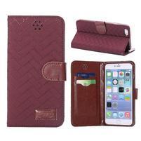 Elegantní peněženkové pouzdra pro iPhone 6 Plus a 6s Plus - vínové