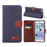 Elegantní peněženkové pouzdra pro iPhone 6 Plus a 6s Plus - černomodré