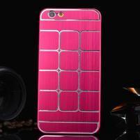 Stylový kryt s kovovými zády pro iPhone 6 Plus a 6s Plus - rose