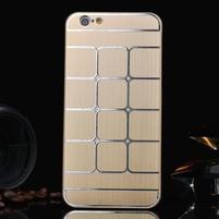 Stylový kryt s kovovými zády pro iPhone 6 Plus a 6s Plus - champagne