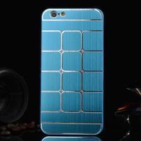Stylový kryt s kovovými zády pro iPhone 6 Plus a 6s Plus - modrý