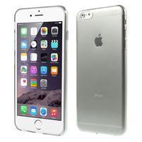 Ultra slim lesklý gelový obal na iPhone 6 Plus a 6s Plus - šedý
