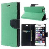 Peněženkové pouzdro pro iPhone 6 Plus a 6s Plus - azurové