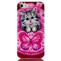 Gelový obal na mobil iPhone SE / 5s / 5 - koťátko