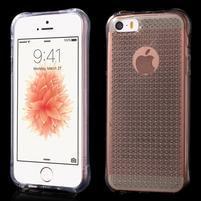 Diamonds gelový obal se silným obvodem na iPhone SE / 5s / 5 - transparentní