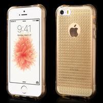 Diamonds gelový obal se silným obvodem na iPhone SE / 5s / 5 - zlatý