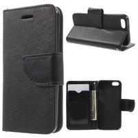 Cross PU kožené pouzdro na iPhone SE / 5s / 5 - černé