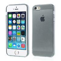 Gelový transparentní obal na iPhone SE / 5s / 5 - šedý