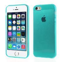 Gelový transparentní obal na iPhone SE / 5s / 5 - modrozelený