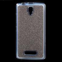 Povrchově třpytivý gelový obal na mobil Lenovo A2010 - šedý