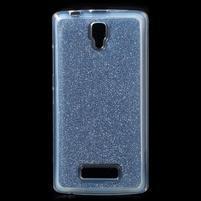 Povrchově třpytivý gelový obal na mobil Lenovo A2010 - tmavěmodrý