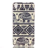 Softy gelový obal na mobil Lenovo S850 - sloníci