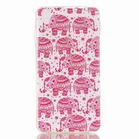 Softy gelový obal na mobil Lenovo S850 - růžoví sloni