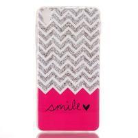 Softy gelový obal na mobil Lenovo S850 - smile
