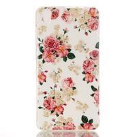 Softy gelový obal na mobil Lenovo S850 - květiny