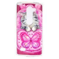 Jelly gelový obal na mobil LG Leon - koťátko