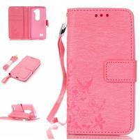 Magicfly pouzdro na mobil LG Leon - růžové