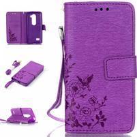 Magicfly pouzdro na mobil LG Leon - fialové