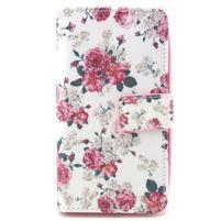 Style peněženkové pouzdro na LG Leon - květiny