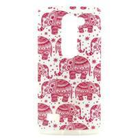 Pictu gelový obal na LG Leon - růžoví sloni