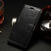 Peněženkové PU kožené pouzdro na LG Spirit - černé