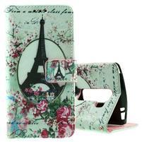 Peněženkové pouzdro na LG Spirit - Eiffelova věž