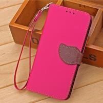 Knížkové PU kožené pouzdro na mobil Meizu MX5 - rose