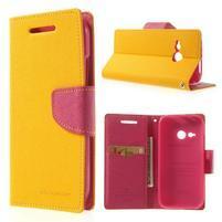 Style peněženkové pouzdro HTC One Mini 2 - žluté
