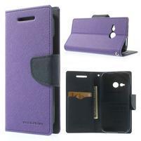 Style peněženkové pouzdro HTC One Mini 2 - fialové