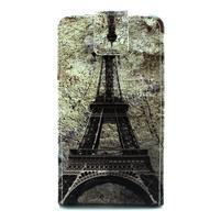 Flipové pouzdro na Huawei Ascend P7 - Eiffelova věž