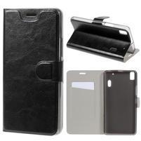 Hardy peněženkové pouzdro na Lenovo A7000 a Lenovo K3 Note - černé