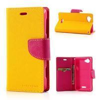 Mr. Fancy peněženkové pouzdro pro Sony Xperia L - žluté