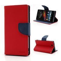Mr. Goos peňaženkové puzdro pre Sony Xperia Z - červené