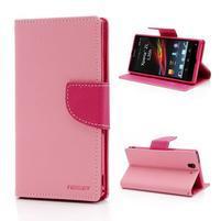 Mr. Goos peňaženkové puzdro pre Sony Xperia Z - ružové