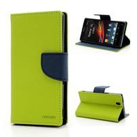 Mr. Goos peňaženkové puzdro pre Sony Xperia Z - zelené