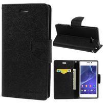 Mr. Goos peněženkové pouzdro na Sony Xperia M2 - černé