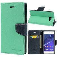 Mr. Goos peněženkové pouzdro na Sony Xperia M2 - azurové
