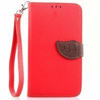 Peněženkové pouzdro s poutkem na Samsung Galaxy Note 4 - červené