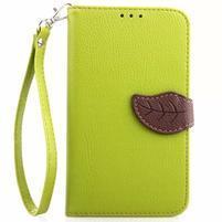 Peněženkové pouzdro s poutkem na Samsung Galaxy Note 4 - zelené