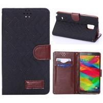 Elegantní penženkové pouzdro na Samsung Galaxy Note 4 - černé