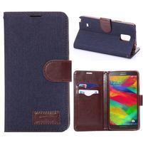 Jeans peněženkové pouzdro pro Samsung Galaxy Note 4 - tmavě modré