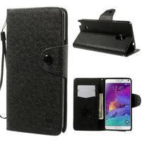 Zapínací peněženkové poudzro Samsung Galaxy Note 4 - černé