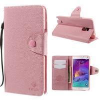 Zapínací peněženkové poudzro Samsung Galaxy Note 4 - růžové