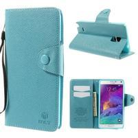 Zapínací peněženkové poudzro Samsung Galaxy Note 4 - světle modré