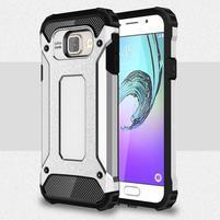 Extreme outdoor kryt 2v1 na mobil Samsung Galaxy A3 (2016) - stříbrný