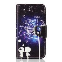 Rich PU kožené pouzdro na mobil Samsung Galaxy A3 (2016) - láska