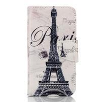 Rich PU kožené pouzdro na mobil Samsung Galaxy A3 (2016) - Eiffelova věž