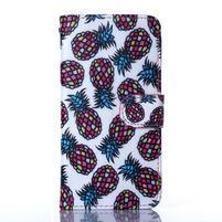 Standy peněženkové pouzdro na Samsung Galaxy Core Prime - ananasy