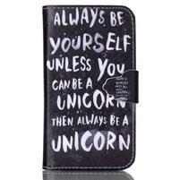 Emotive peněženkové pouzdro na Samsung Galaxy Core Prime - unicorn