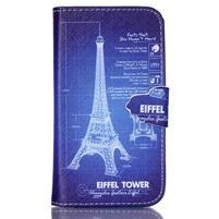 Emotive peněženkové pouzdro na Samsung Galaxy Core Prime - Eiffelova věž